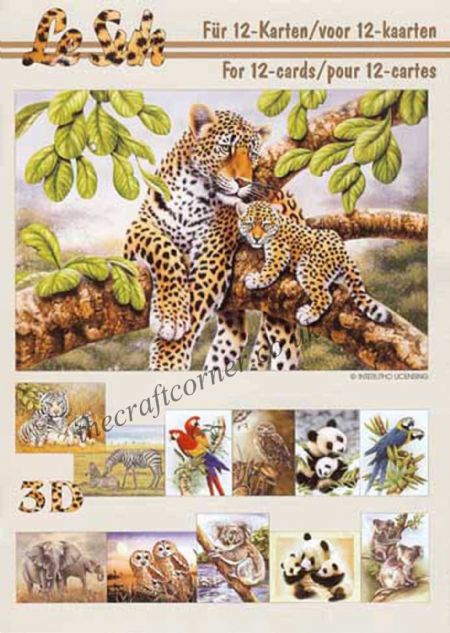 Wild Animals A5 3D Decoupage Book from Le Suh